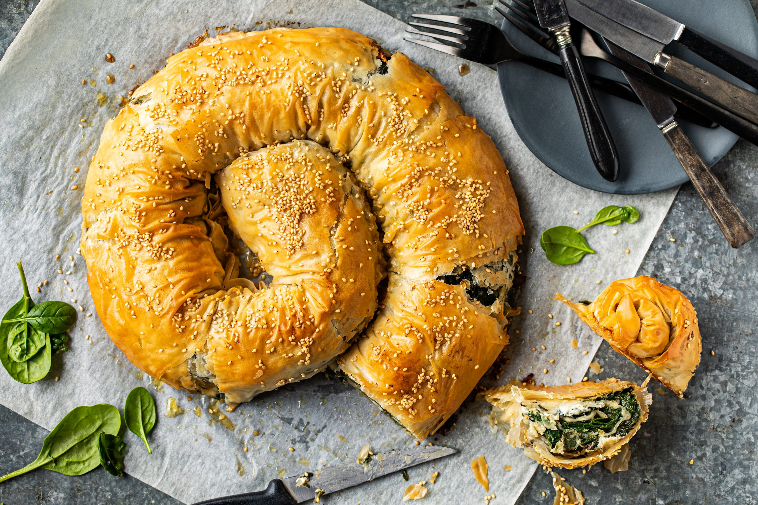 Börek aux épinards et au fromage frais