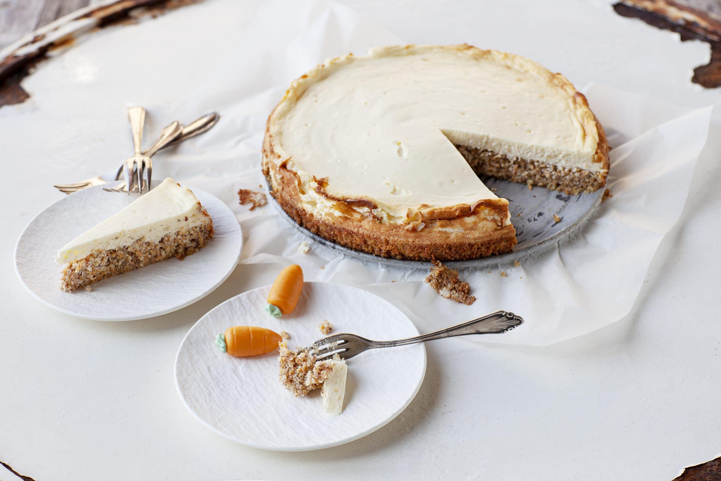Cheesecake à la carotte