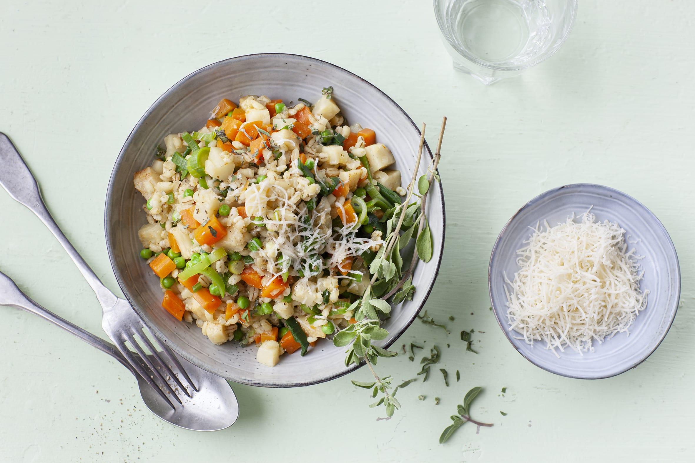 Gerstotto mit Gemüse