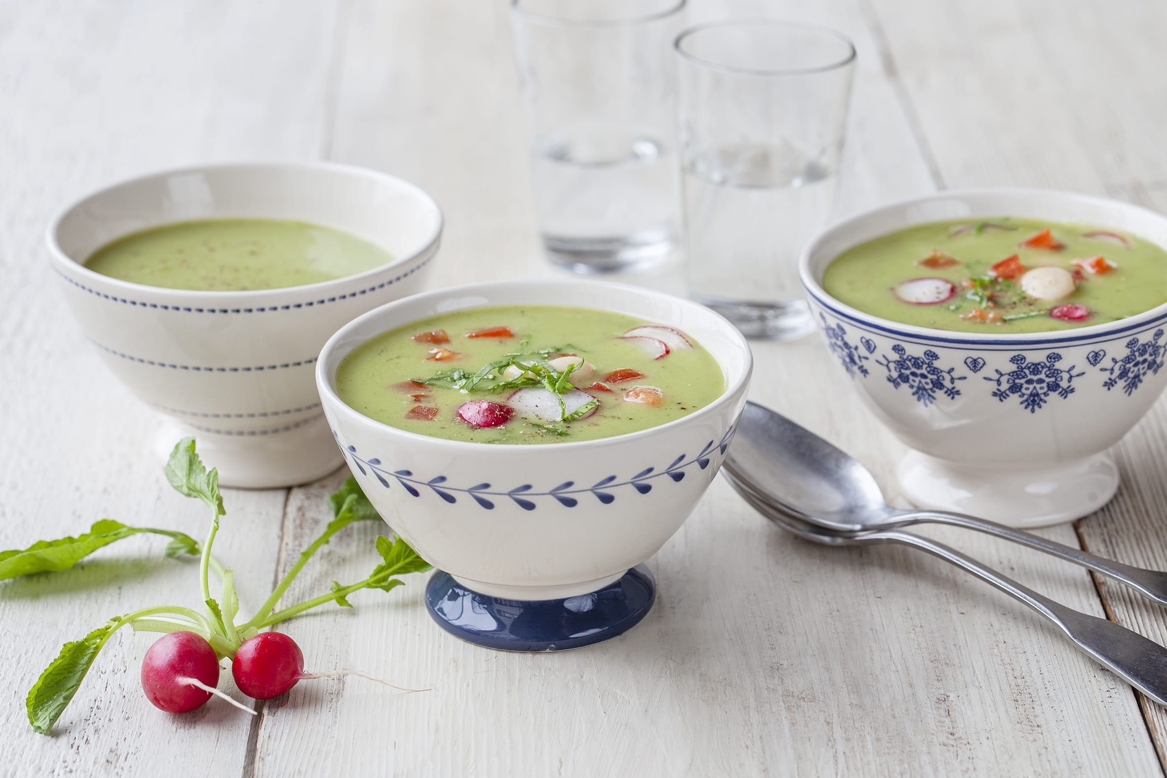 Bohnen-Radieschensuppe