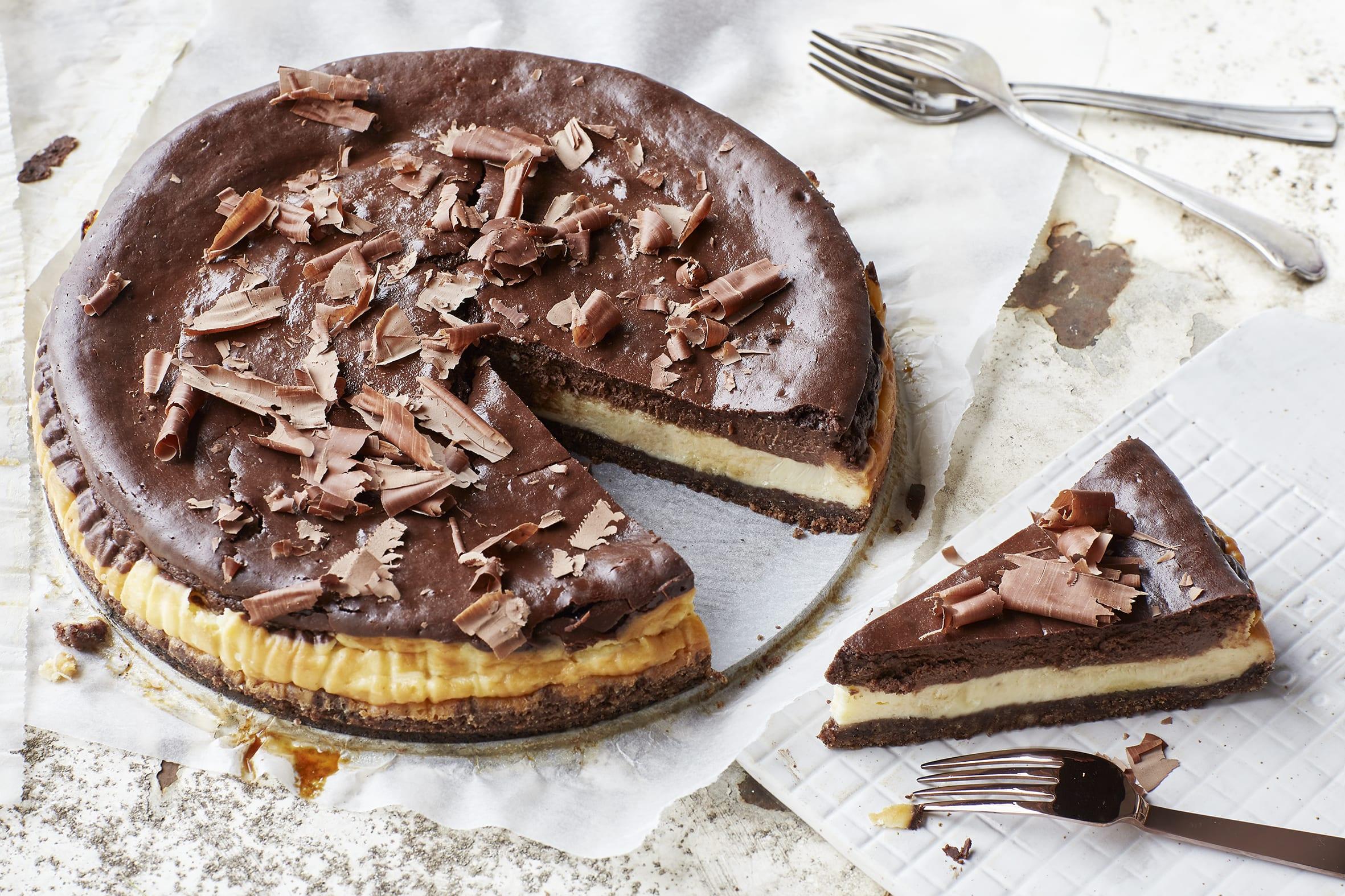 Schokoladen-Cheesecake mit Quark