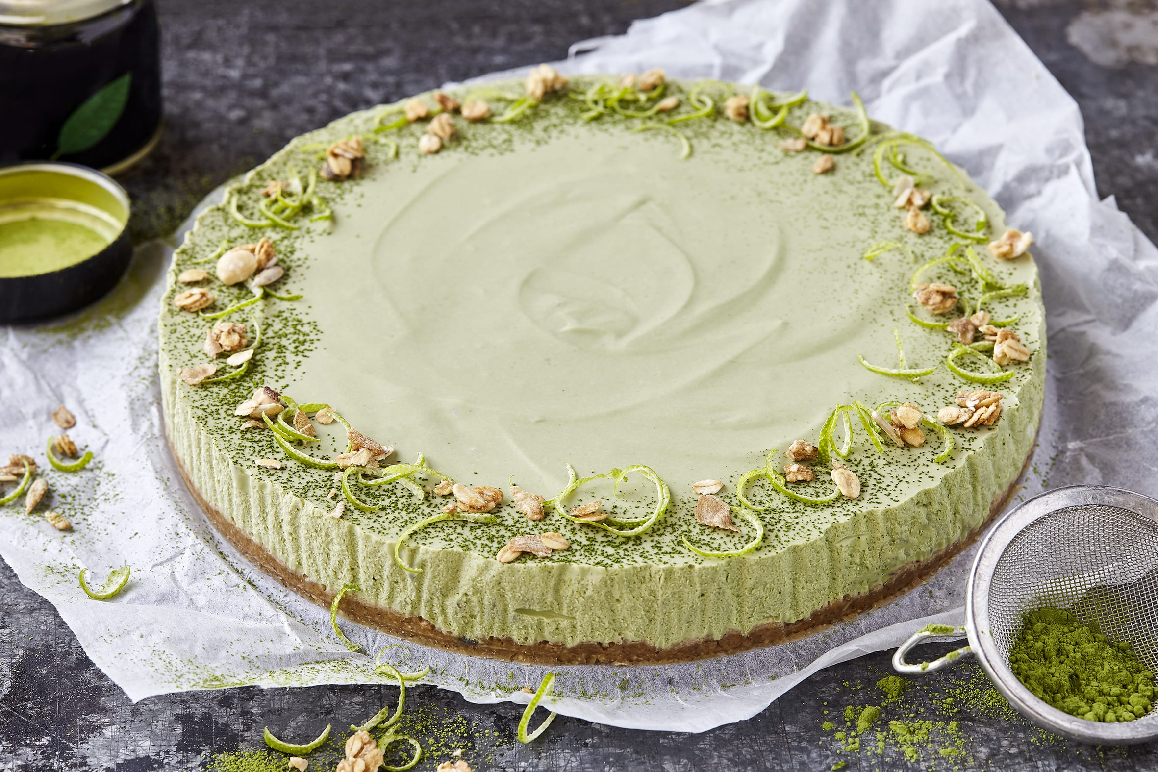 Cheesecake au matcha (sans cuisson)