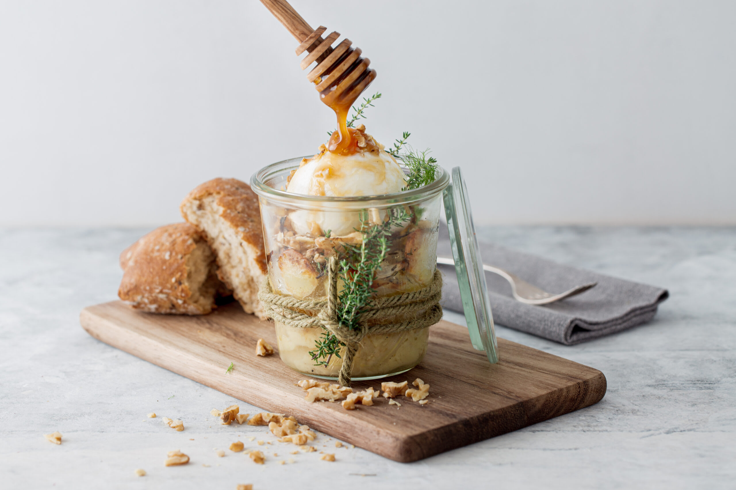 Gerösteter Fenchel-Kartoffel-Salat mit Büffelmozzarella