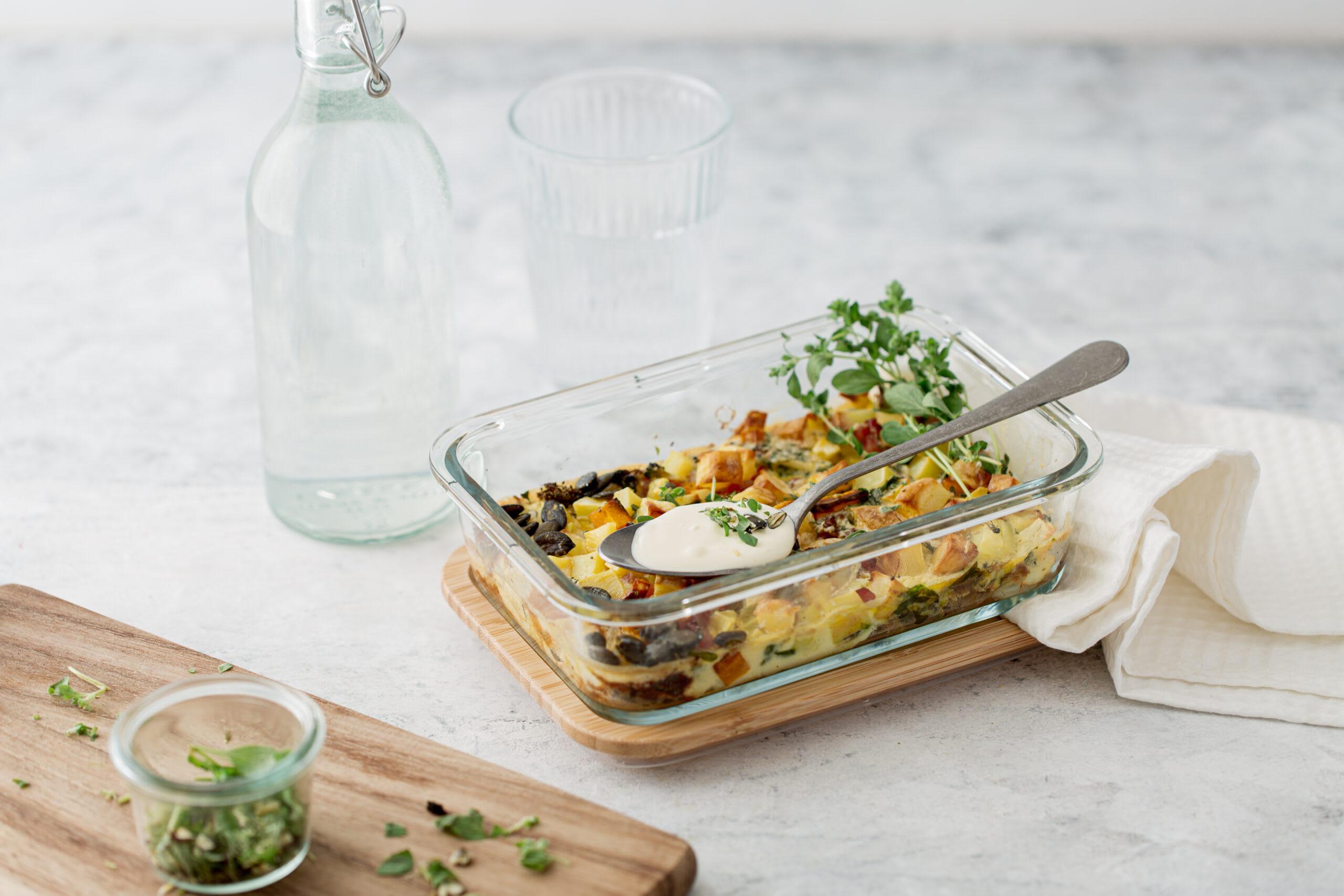 Tortilla aux légumes au four