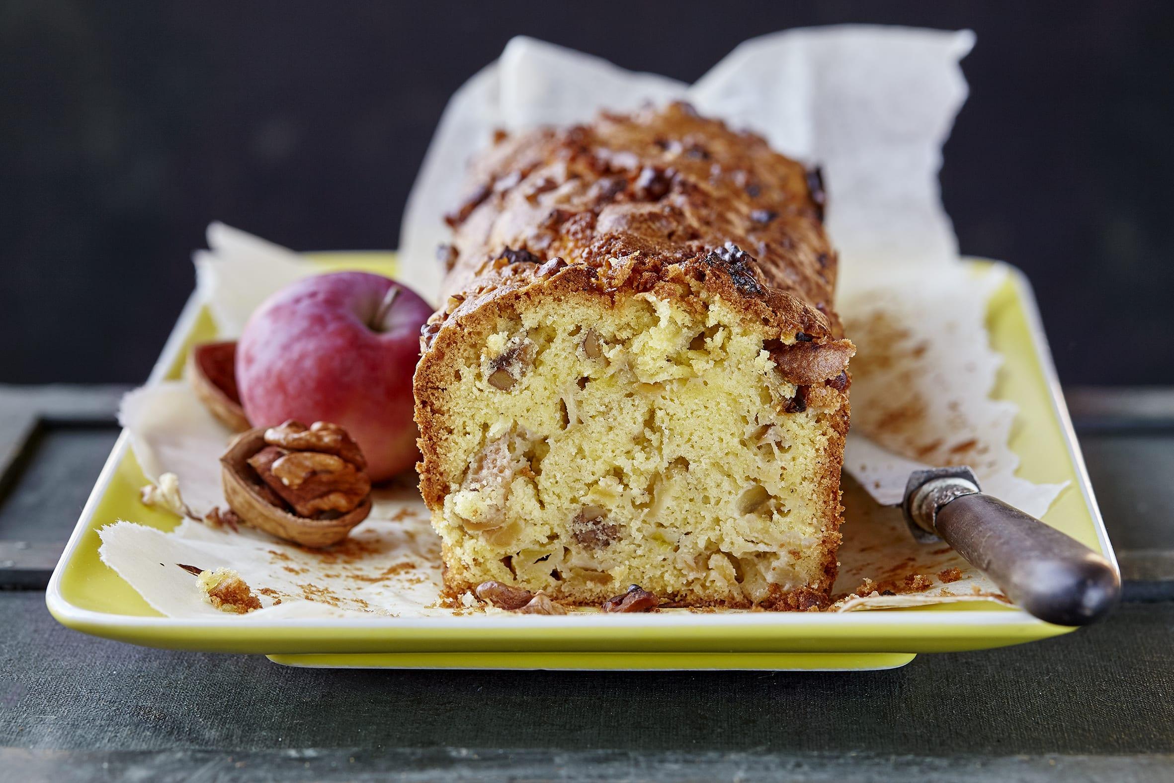 Cake à la pomme et aux noix