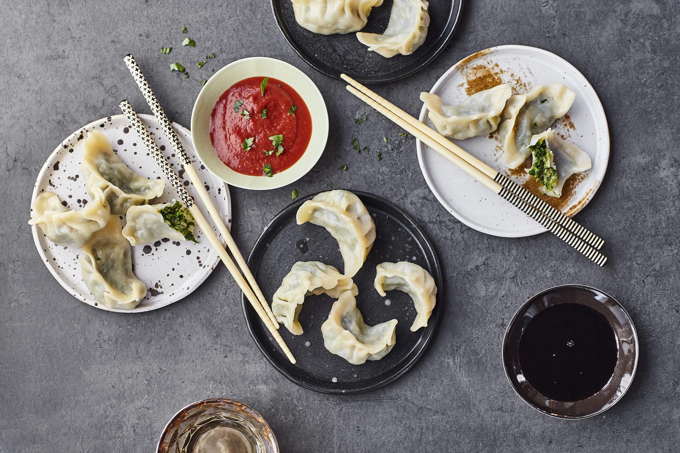 Momos végétariens (raviolis tibétains)