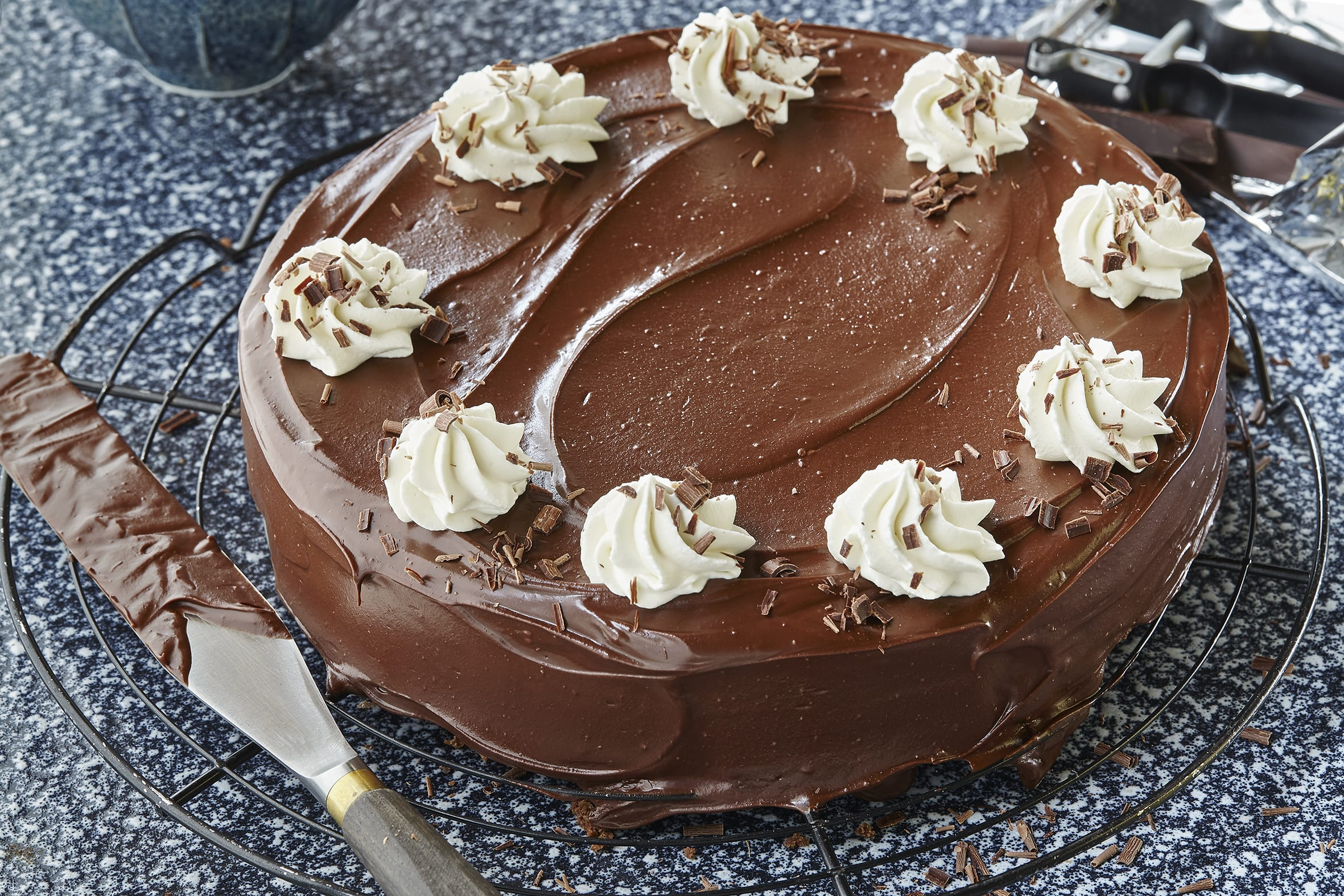 Schokoladenkuchen mit Glasur