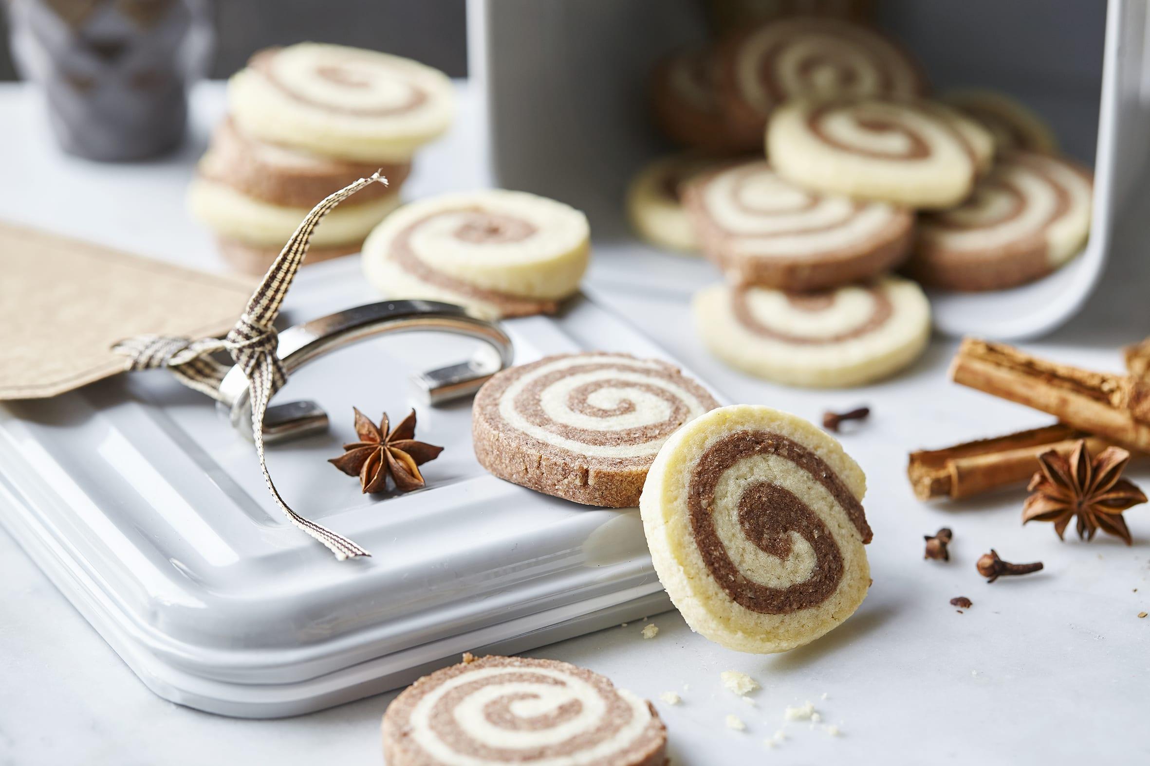 Biscuits spirales aux épices