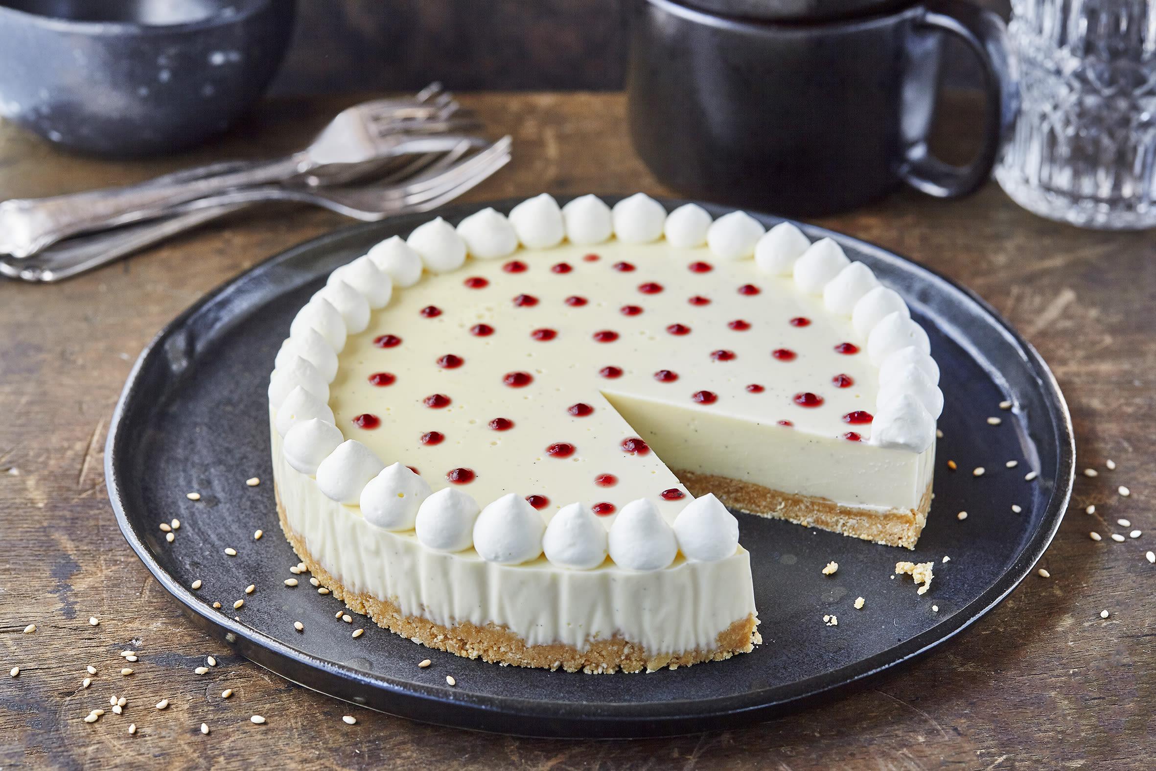 Gâteau à la panna cotta à l'agar-agar (sans cuisson)