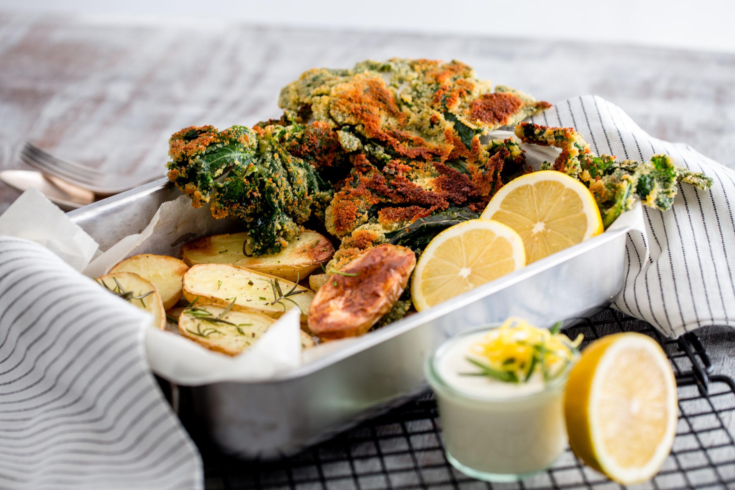 Escalopes végétariennes et pommes de terre au romarin
