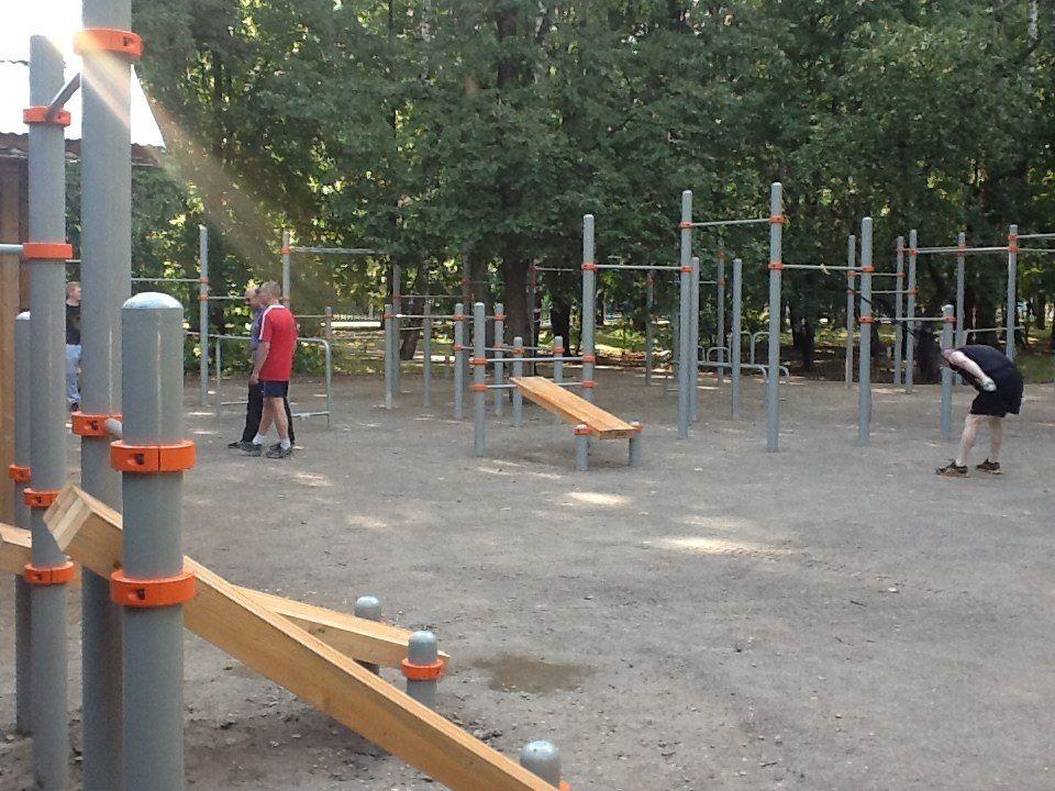 Moscow - Street Workout Park - Парк Северное Тушино - Площадка (Tushinpark - Workout)
