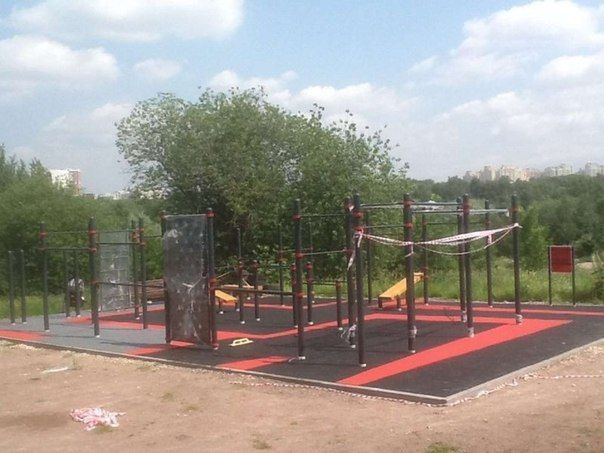 Moscow - Street Workout Park - Школа № 1434 «Раменки» (2)