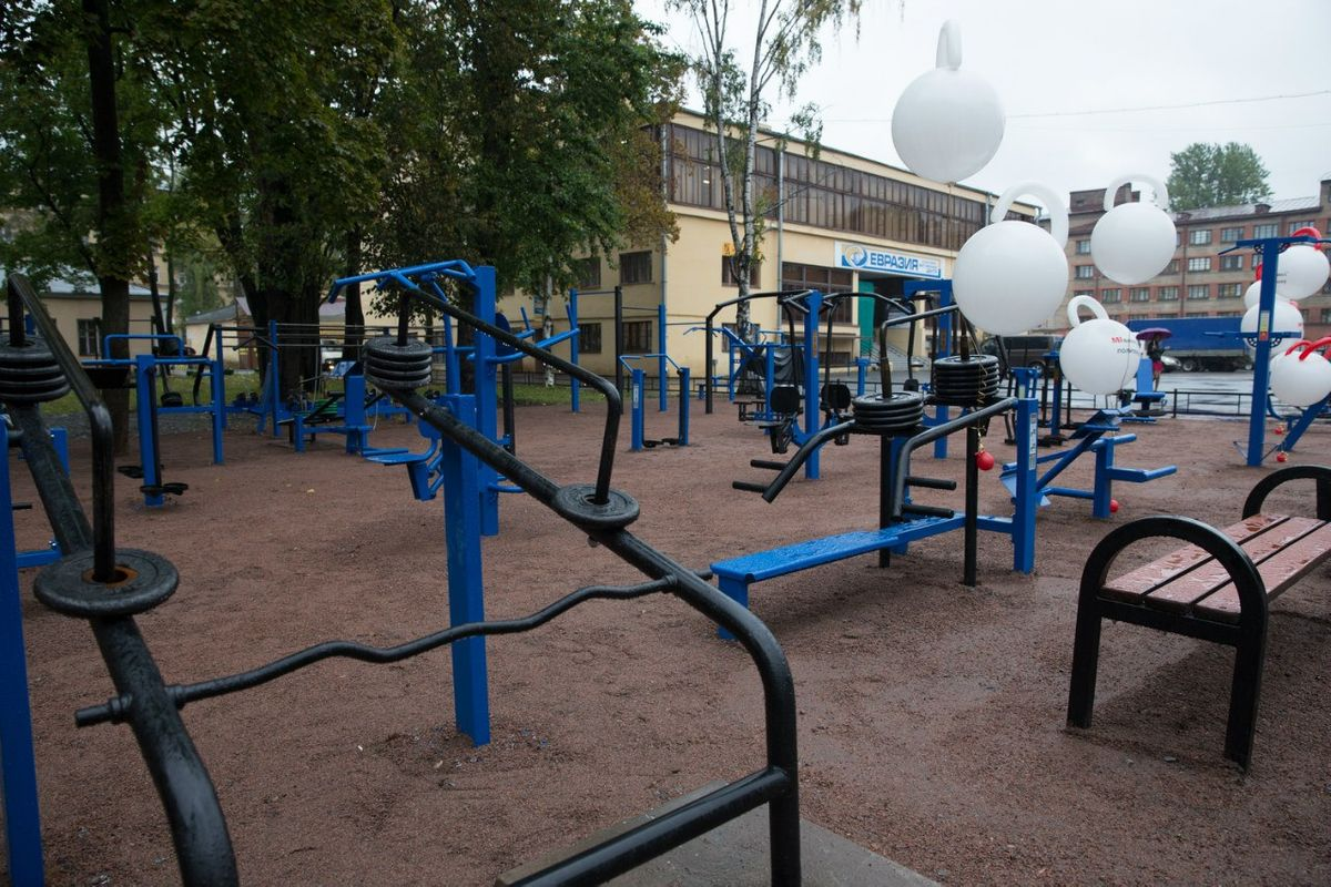 Saint Petersburg - Outdoor Gym - Улица Капитана Воронина