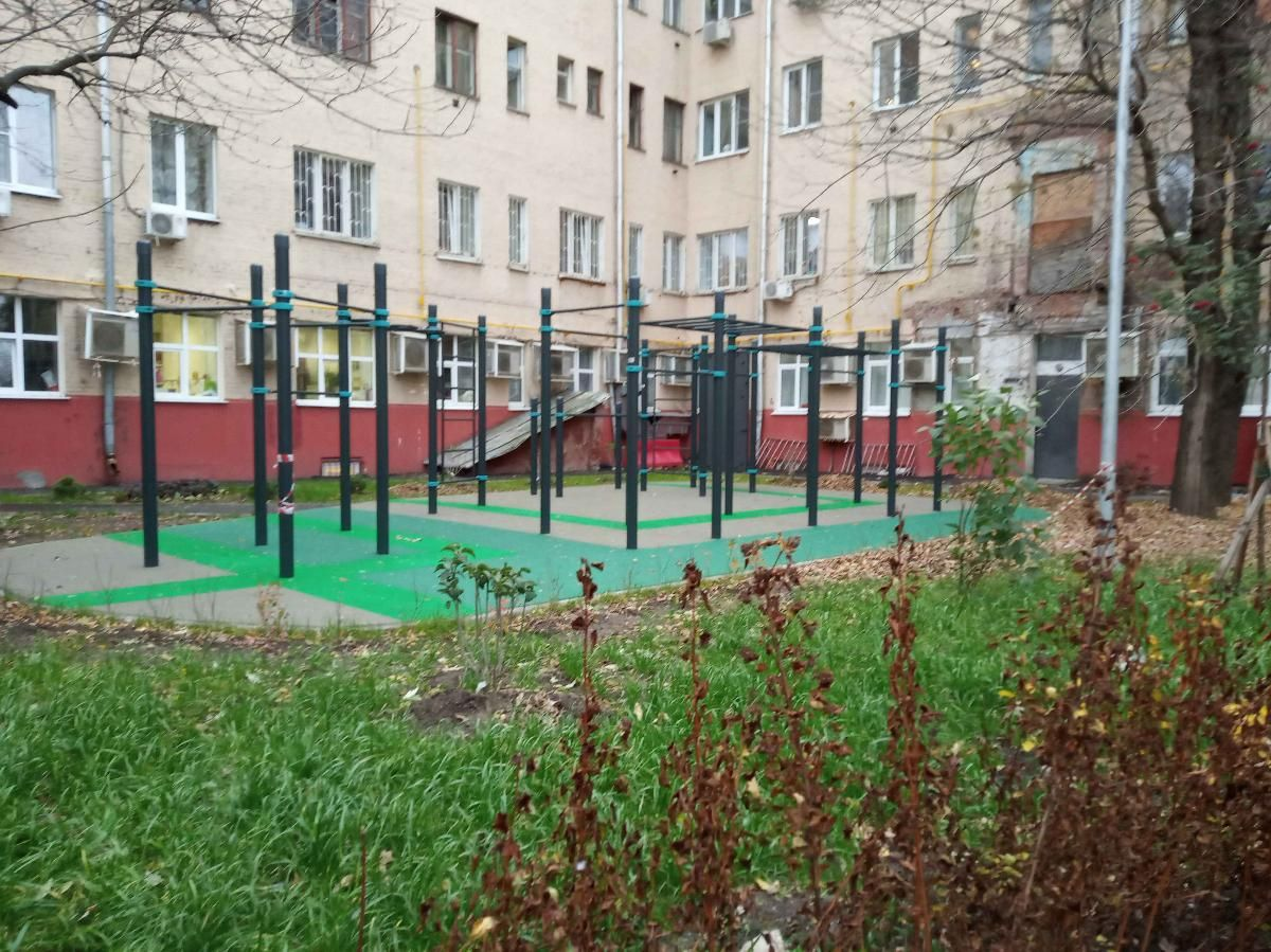 Moscow - Outdoor Gym - Улица Доватора