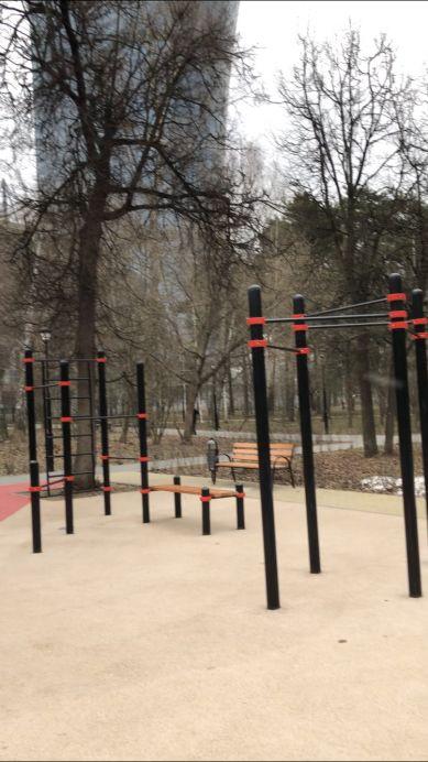 Moscow - Street Workout Park - Новая Детская Площадка В Парке Березовая Роща