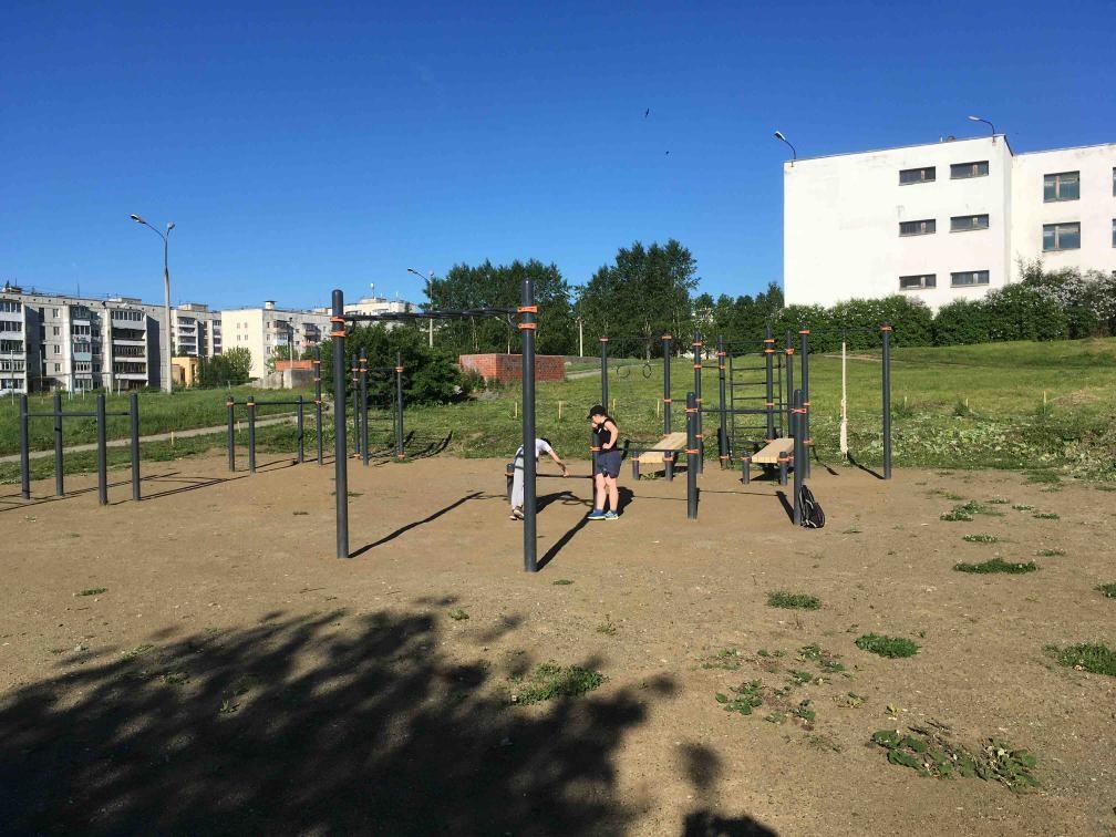 Krasnoturyinsk - Calisthenics Park - Красное&белое