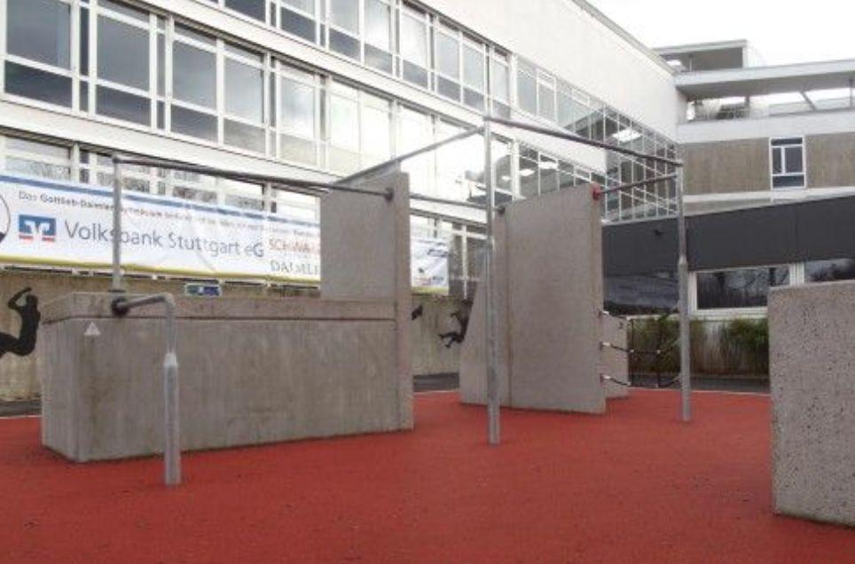 Stuttgart - Parkour Park at Gottlieb-Daimler-Gymnasium