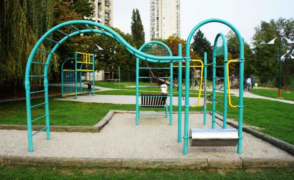 Zagreb - Street Workout Park - Boćarski dom Zrinjevac
