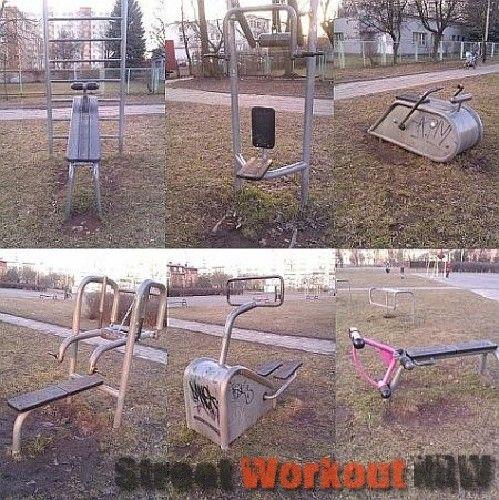 Łódź - Outdoor Gym - Park Imienia Legionow