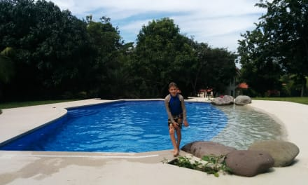 Lucas Loves The Pool