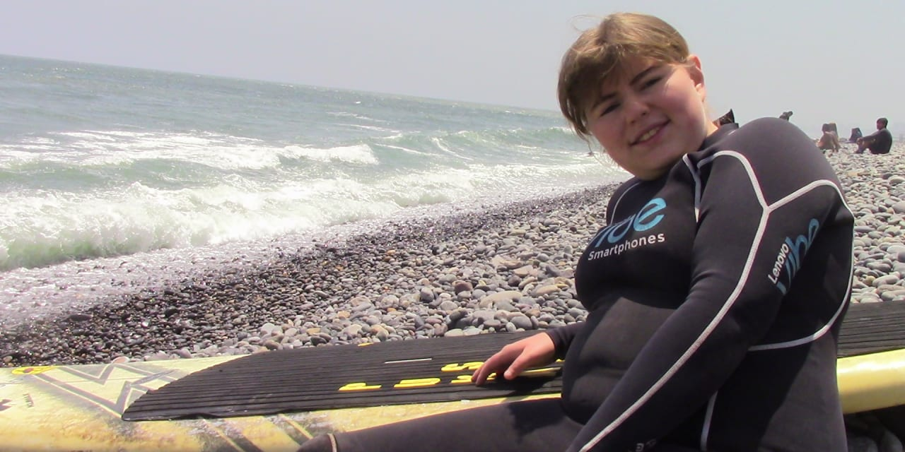 My First Time Surfing