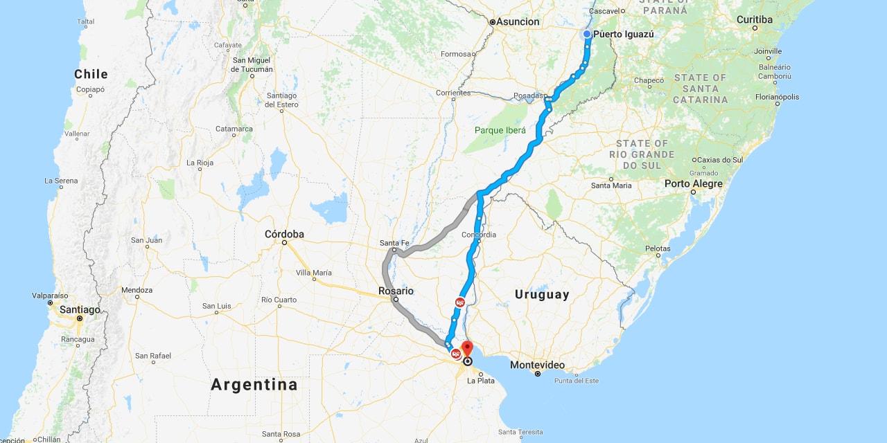 March 3 – 4: Via Bariloche Bus from Buenos Aires to Puerto Iguazu