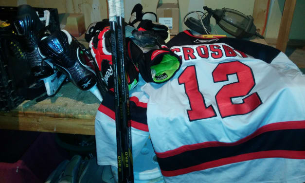 Last hockey game for a while
