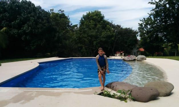 Lucas Loves The Pool