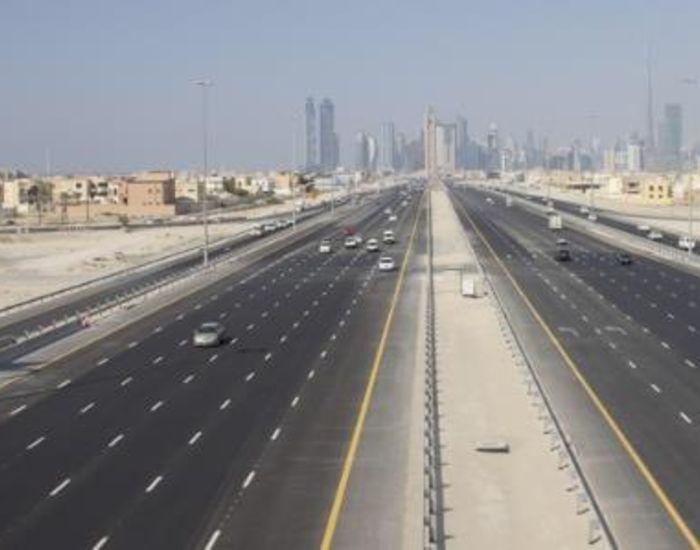 New Dubai Abu Dhabi Road