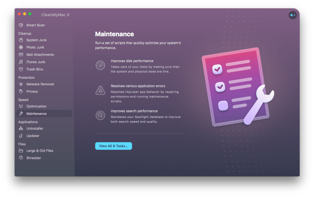 CleanMyMac X Maintenance