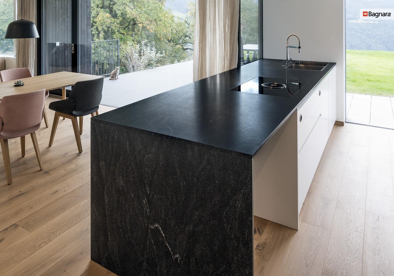 Kitchen clad in American Black by Bagnara
