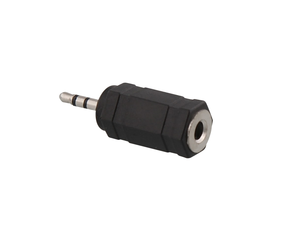 Jack 2,5mm male / jack 3,5mm female adapter