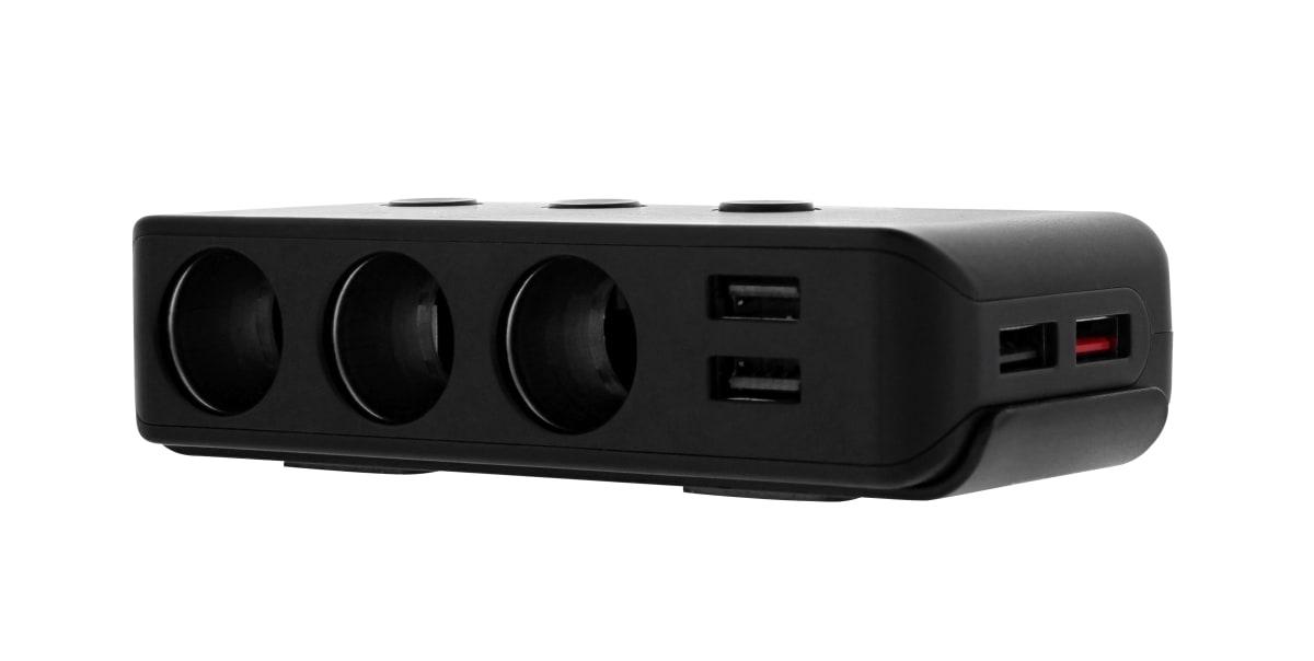 4XUSB-A 120W car charger + 3 cigar light charger