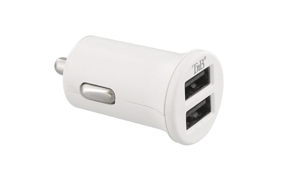 Chargeur allume-cigare 2XUSB-A 12W compact