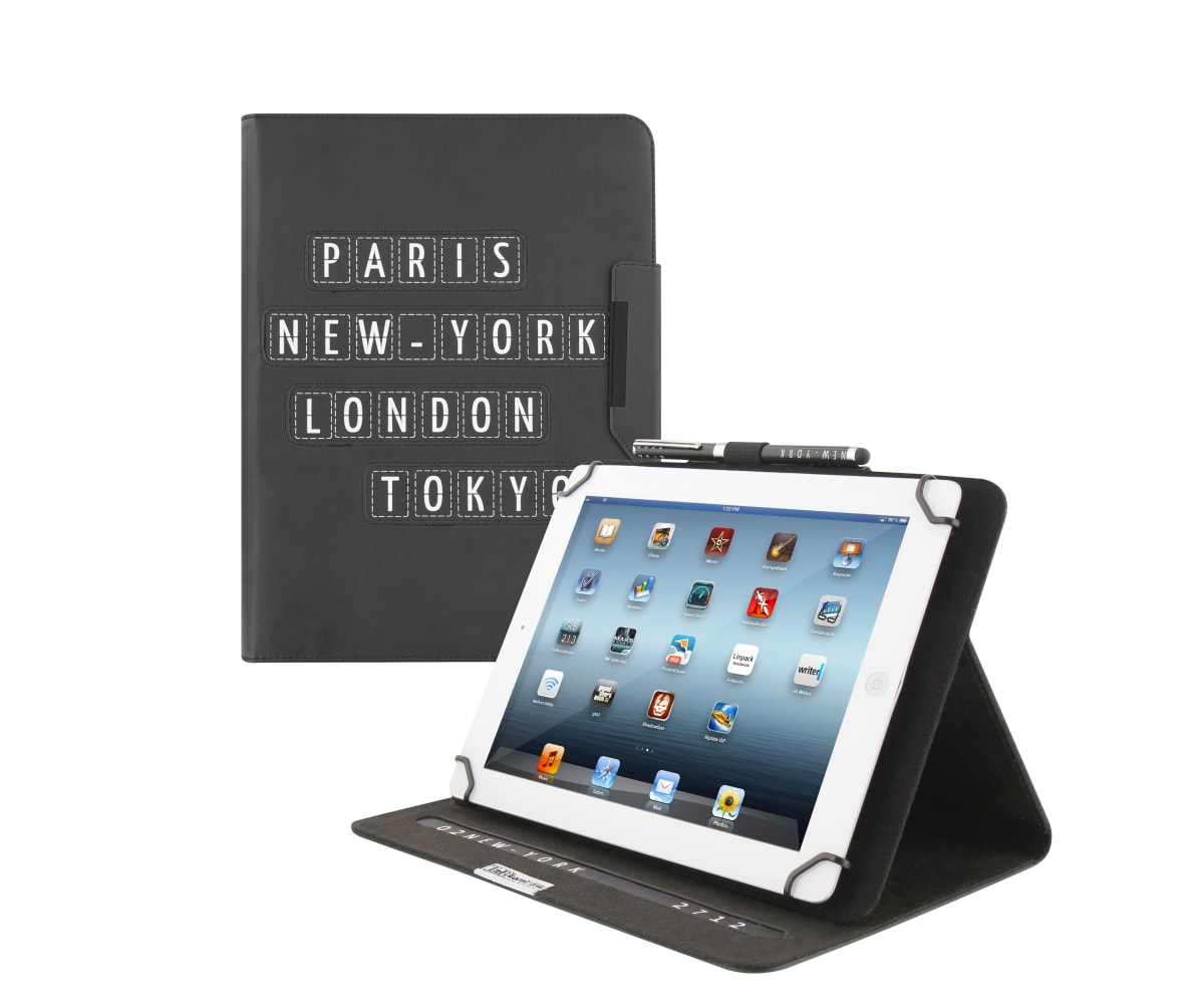 "Universal folio case + stylus for tablet 10"" TRAVEL"