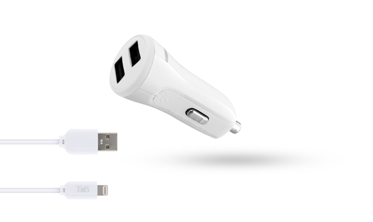 2XUSB-A 17W car charger + Lightning cable
