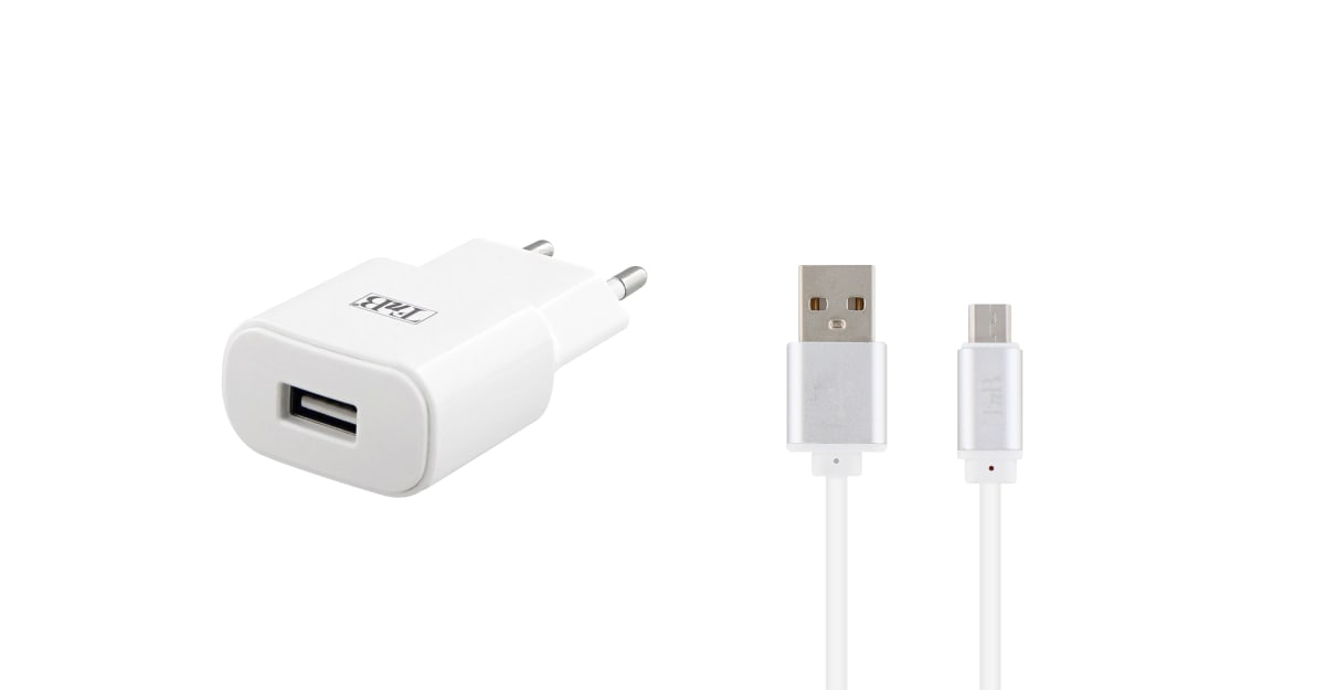 2.4A USB CHARGER + MICRO USB CABLE