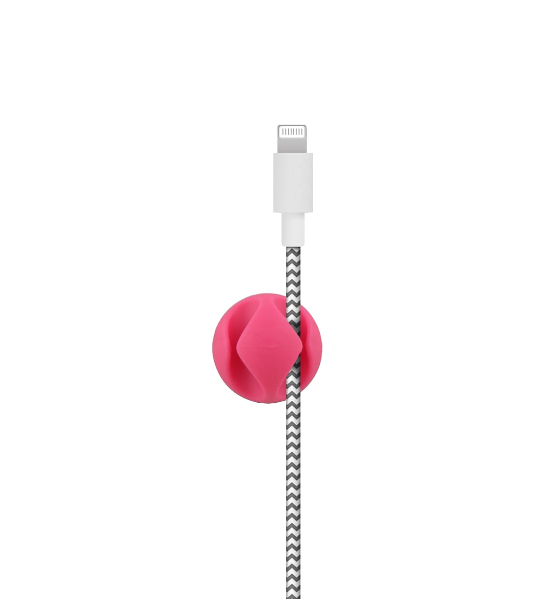 Fixations pour 2 câbles x6 couleur