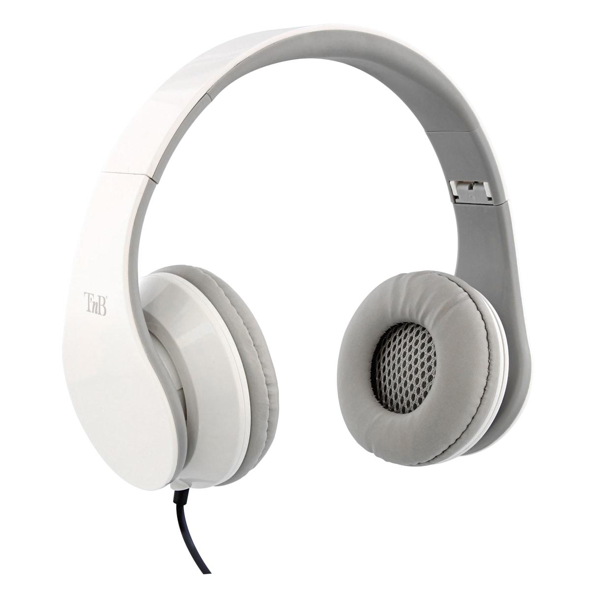 STREAM jack 3,5mm wired headphone white