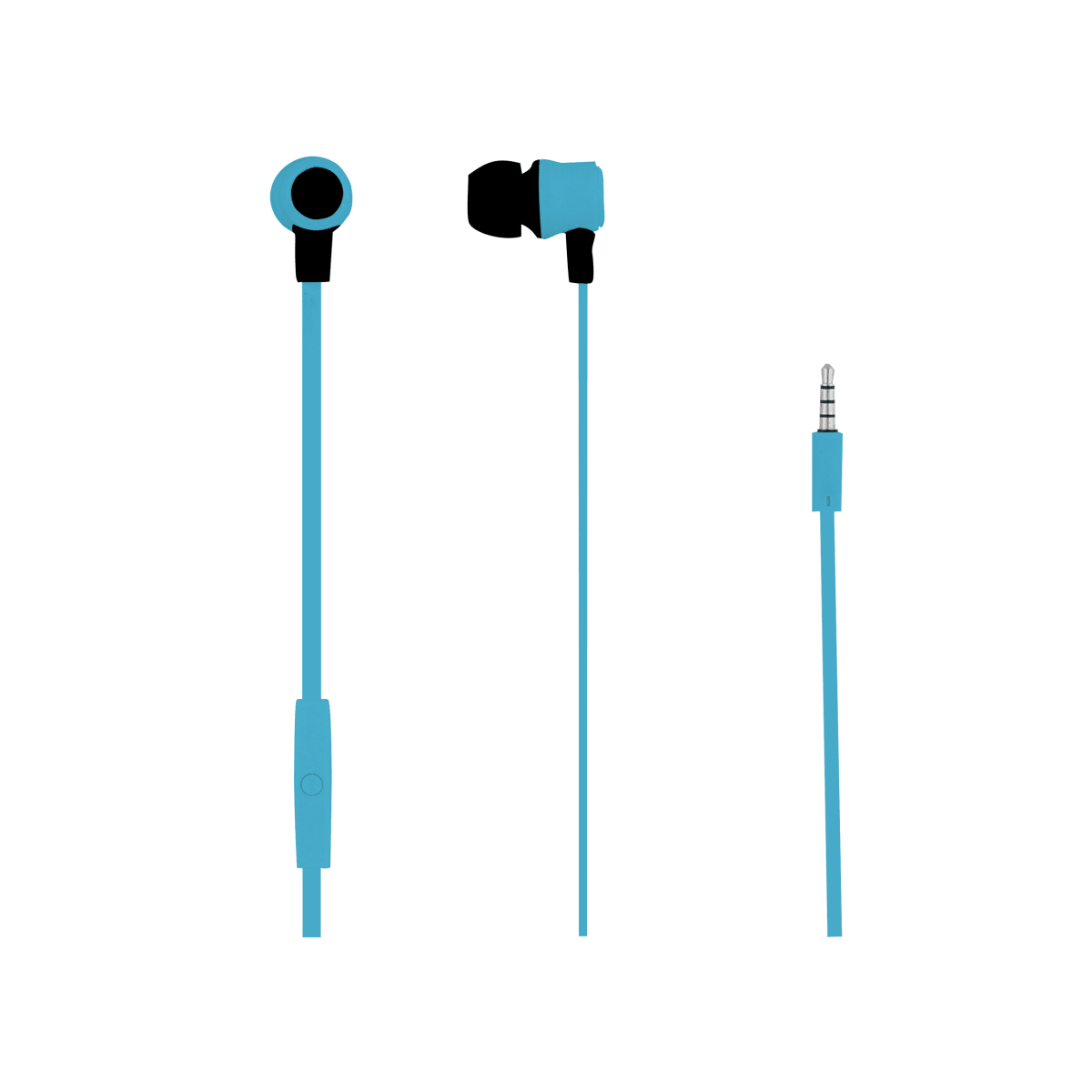 Wired earphones MOOD jack blue