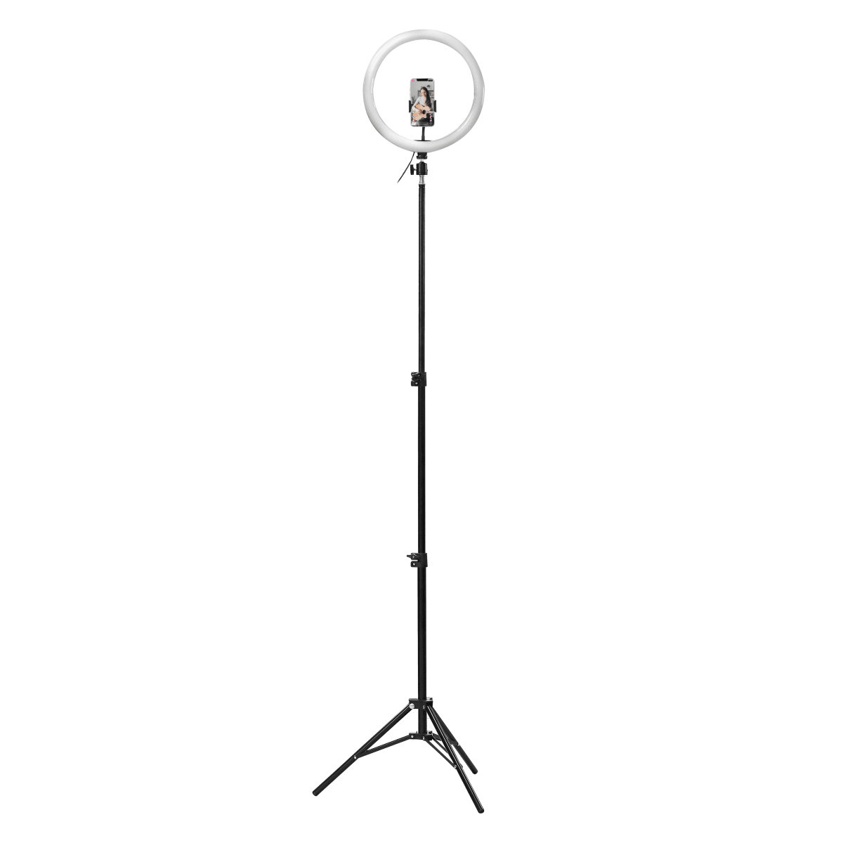"""12"""" LED ring with tripod for studio"""