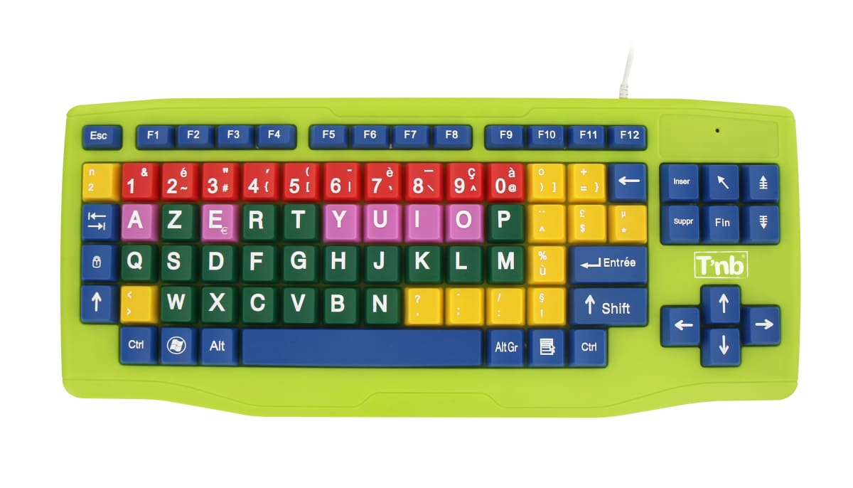 COLORED KEYBOARD FOR KIDS
