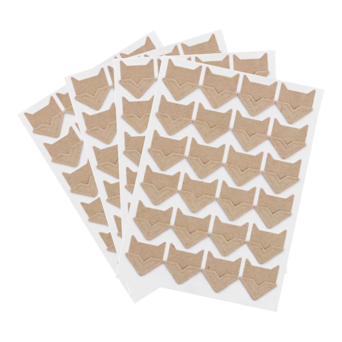 LENSY- Pack of 96 adhesive photo kraft corners