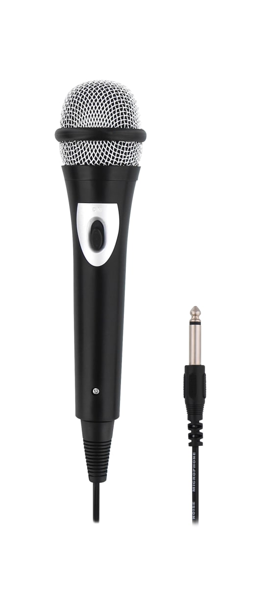 Unidirectionnal 6,35mm jack microphone + 3,5mm jack adapter
