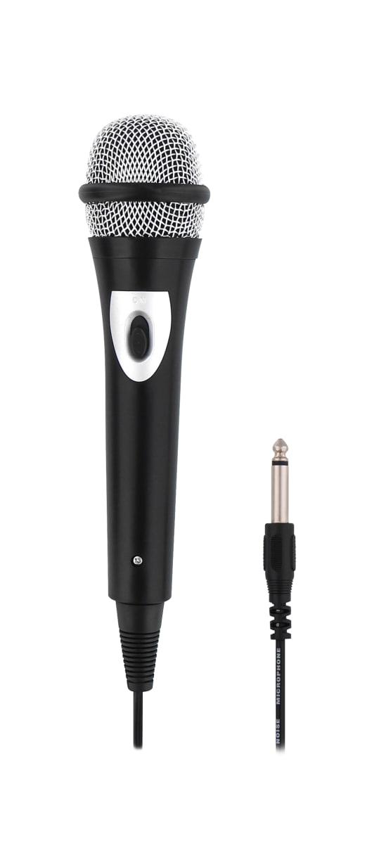 Microphone audio unidirectionnel jack 6,35mm + adaptateur jack 3,5mm