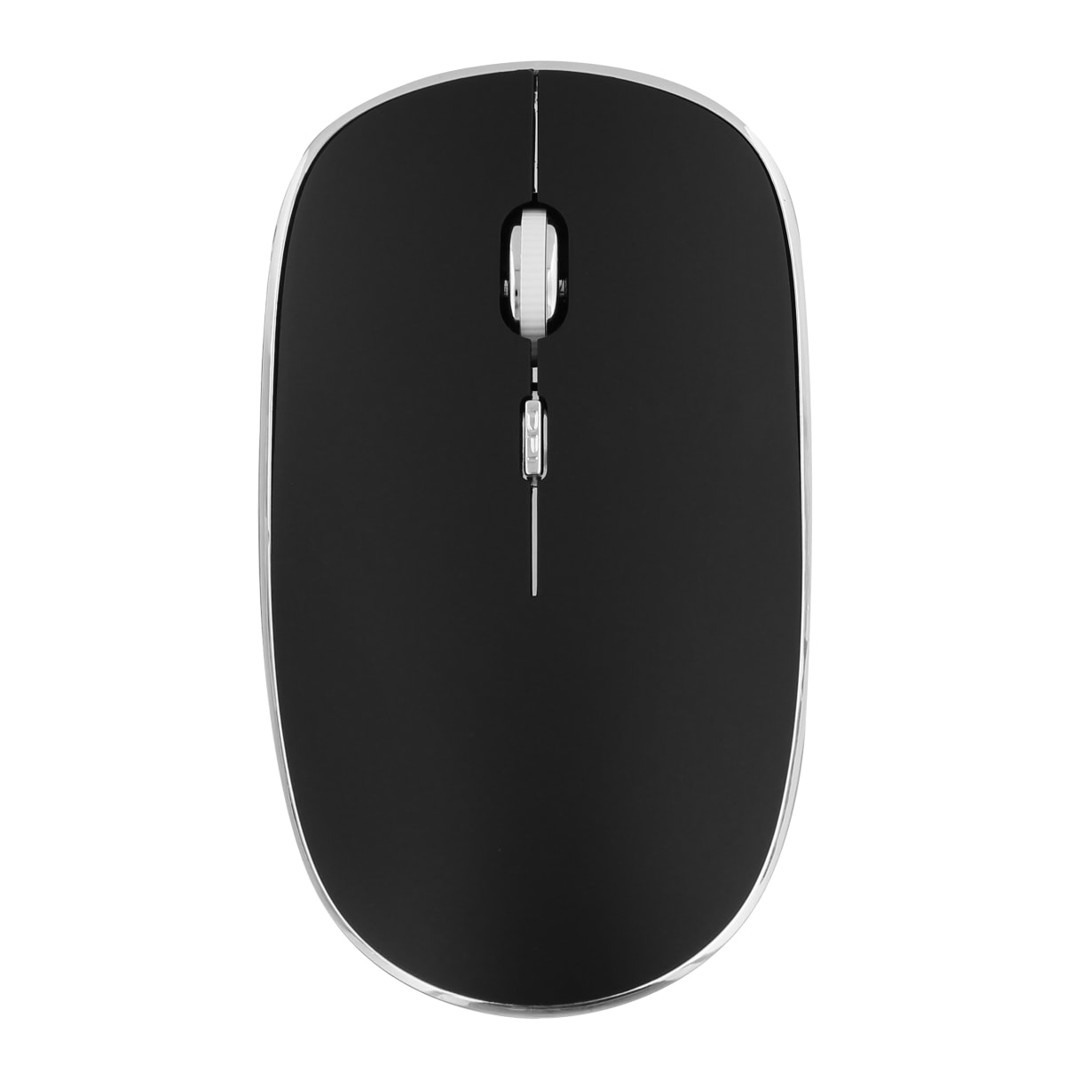 Wireless silent click mouse RUBBY black
