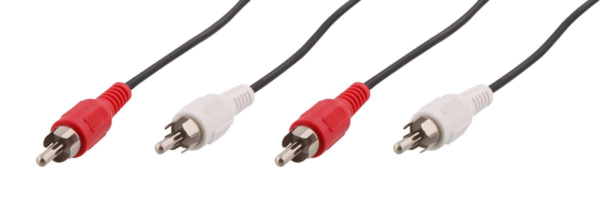 2 RCA male / 2 RCA male cable 3m