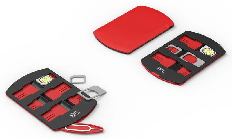 Pack adaptateur pour cartes SIM et rangement