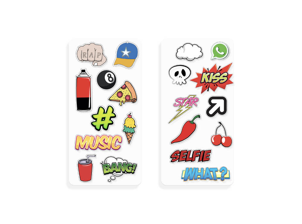 SHEET OF STICKERS FOR SMARTPHONES - BOY