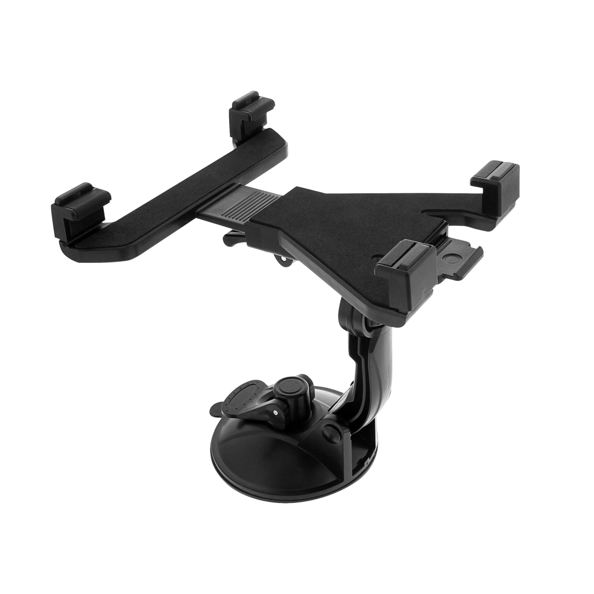 Suction cup jaw holder for tablets